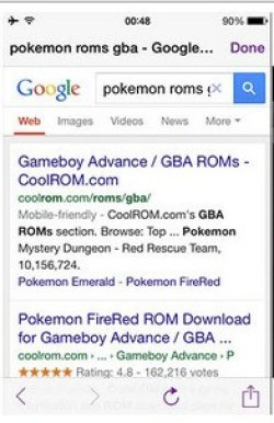 Search for Pokemon ROM & download it