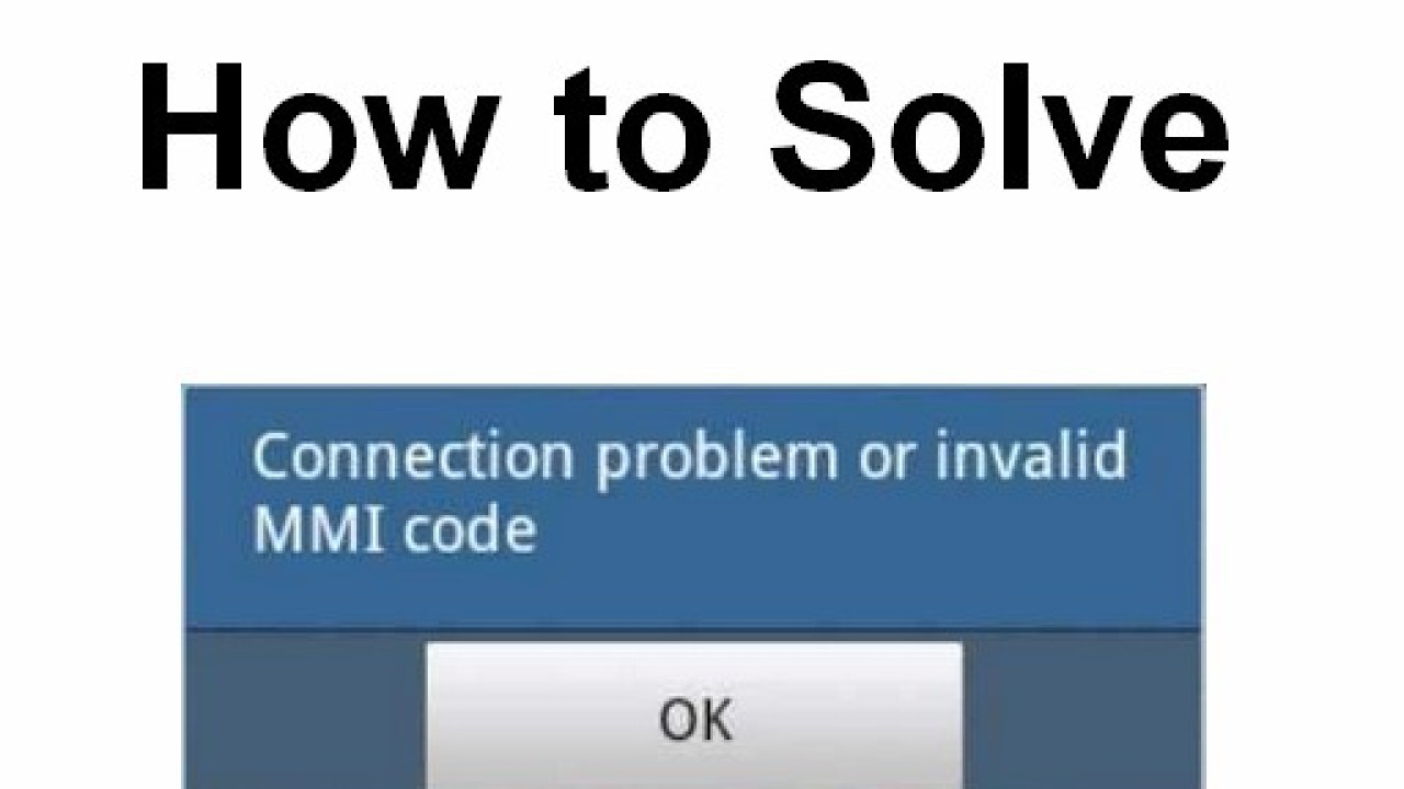 Fix: Connection Problem or Invalid MMi Code Problem in 3 Easy Ways