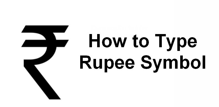 How To Type Indian Rupee Symbol In Html Ms Word