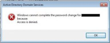 Check Active Directory (LAN) account password settings Reset check