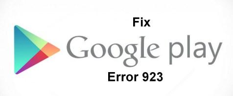 Error 923