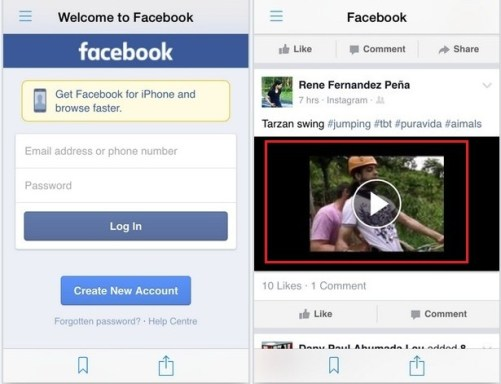 Open your Facebook Account there & Go to Video you want to Download