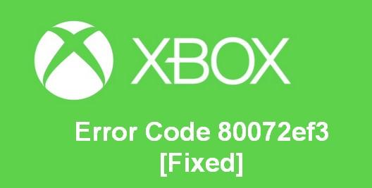 Error Code 80072ef3