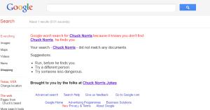Chuck Norris Google trick