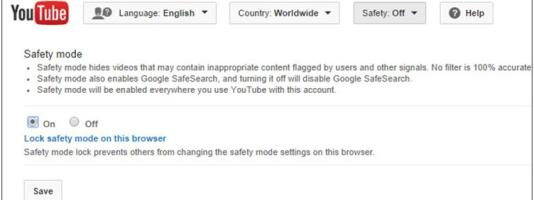 youtube safety mode