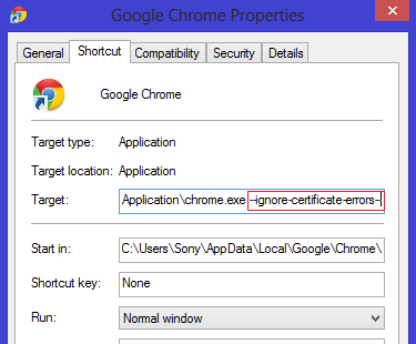 ssl fix in chrome