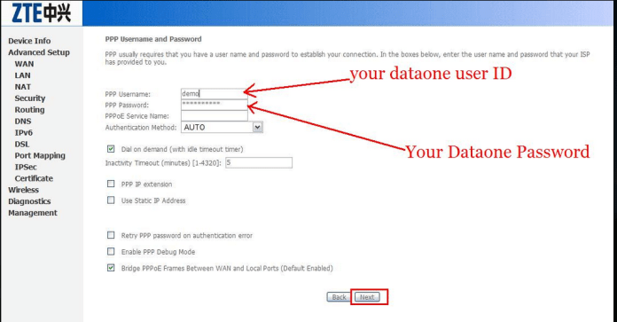 username pass