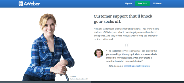 aweber email marketing service support