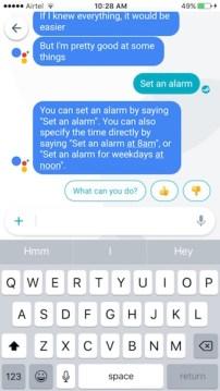 set alarm using google assistant