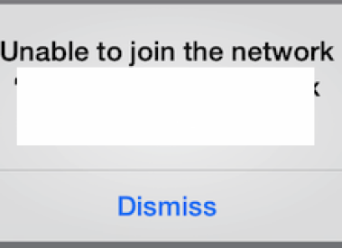"How to Fix iOS Error ""Unable to Join Network """