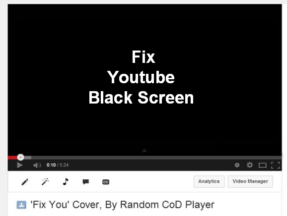 why is youtube going black screen