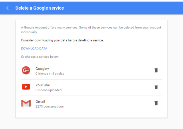 delete gmail account