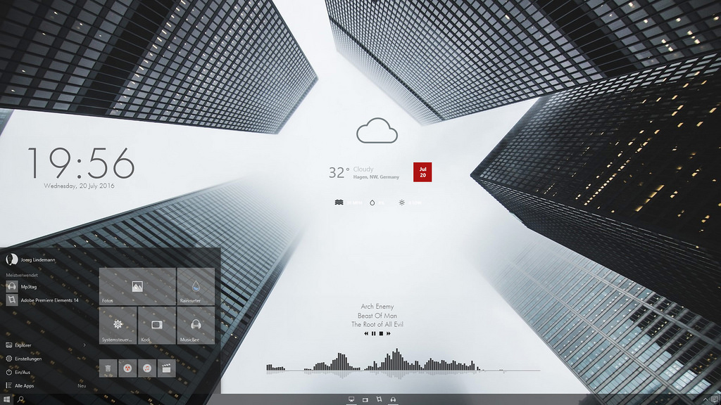 25+ Best Robust RainMeter Skins (2019) for Windows 10,8.1,7