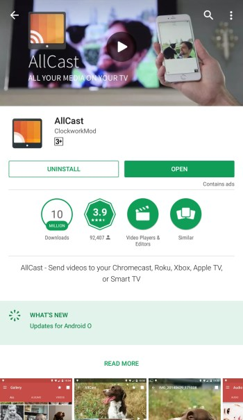 allcast android to pc