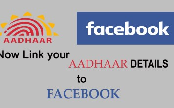 link aadhaar to facebook