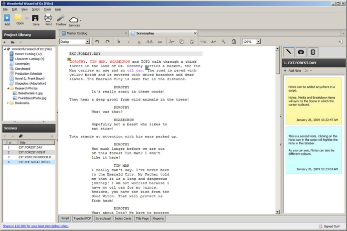 Best Screenwriting Software