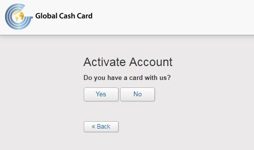 global cash card activate