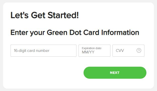 activate green dot card