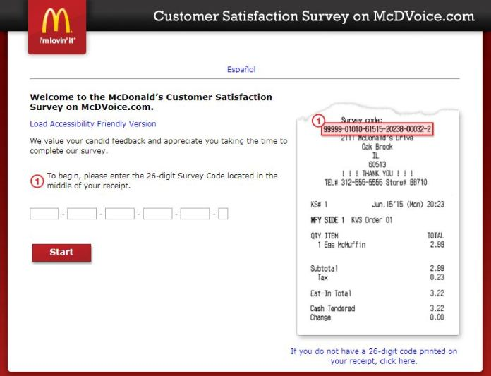 mcdonald's survey