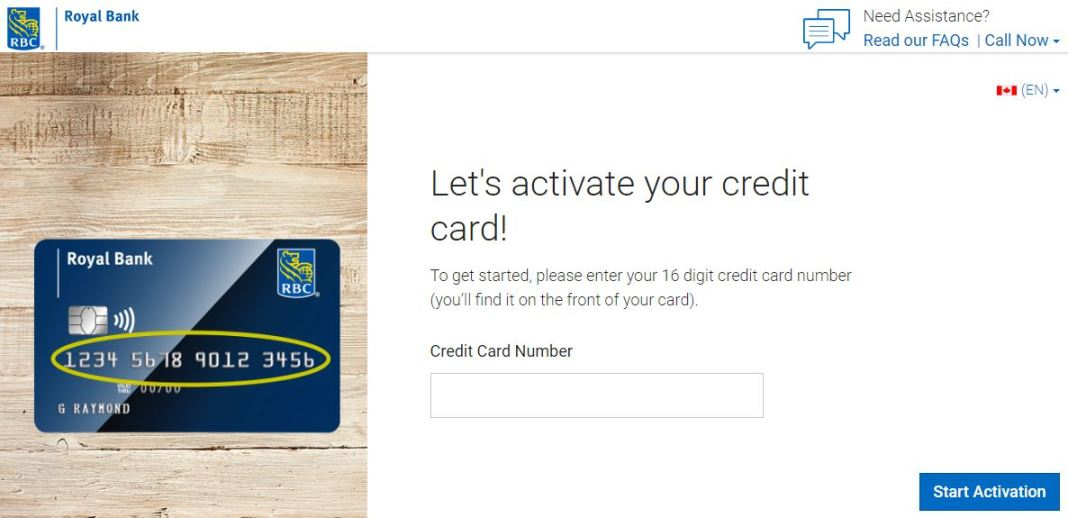 rbc credit card activation