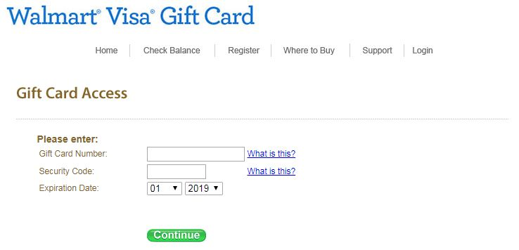 walmart gift card activation