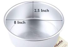 Aluminium Cake Mould (8 inches Dia ; 2.5 inches Height)