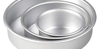 DiBha Aluminium Cake Baking Mould Round/Circle Shaped Set of 3 Different Sizes