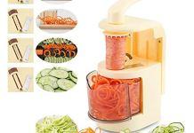 GLIVE (LABEL) Kitchen Vegetable and Fruit Spiralizer: Vegetable Spiral Slicer, Fresh Veggie Spaghetti & Pasta Maker for Low Carb Healthy Vegetable Meals