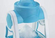 SHOPPOWORLD Gola Maker Machine, Ice Gola Maker, Manual Ice Crusher, Non Electric Ice Gola Maker, Handy Ice Snow Maker for Summer, Indoor Outdoor Manual Gola Maker for Home (Blue)