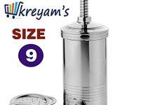 kreyam's® Chakli Maker/Idiyappam Press/Murukku Machine/for Sev, Namkeen,Noodles,Maggi Kitchen Utensils Stainless Steel 6 Jalis 1pcs.