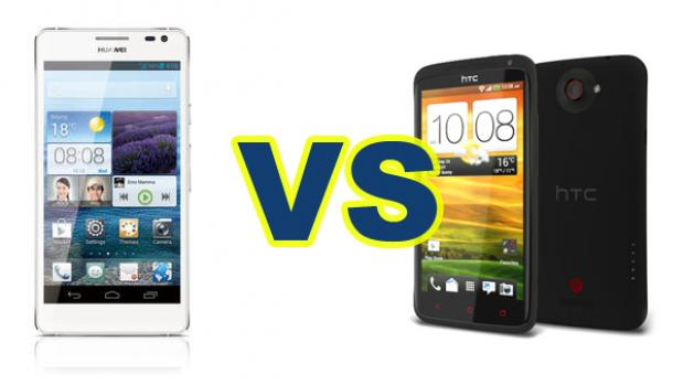 Huawei Ascend D2 And HTC One X+