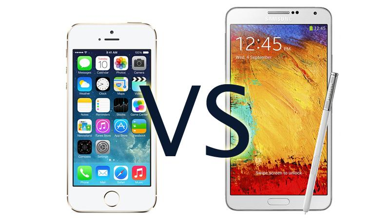 IPhone 5S Vs Samsung Galaxy Note 3