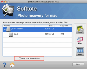 Softtote Mac Photo Recovery