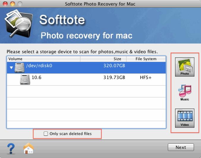 Softtote Mac Photo Recovery