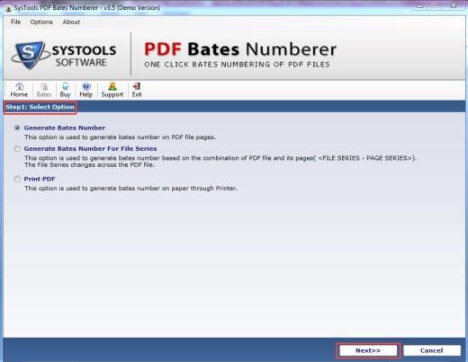 Generate Bates Number