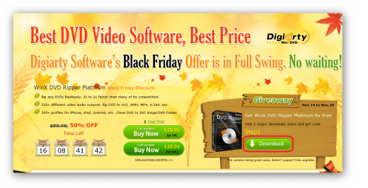 WinX DVD Ripper Platinum Black Friday
