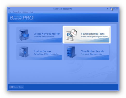 SuperEasy Backup Pro Manage