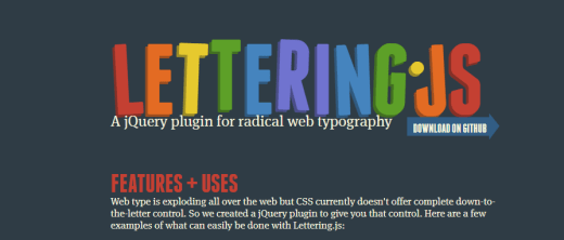 Lettering jQuery Plugin