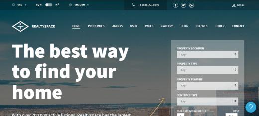 Realtyspace Real Estate WordPress Theme