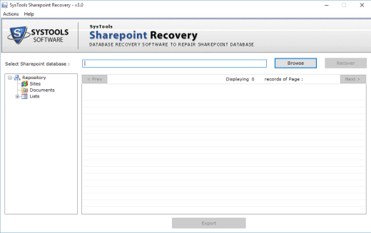 SharePoint Recovery