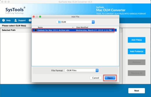 Import Mac Outlook