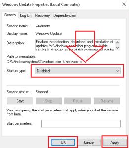 DisableWindows Update