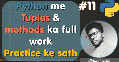 How to use tuples in python | Full Python Course in Hindi