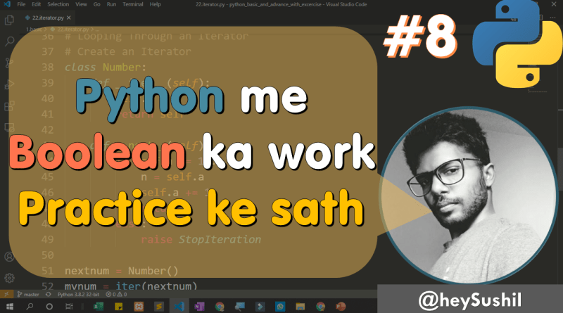 What is boolean and use of boolean in python | Full Python Course in Hindi