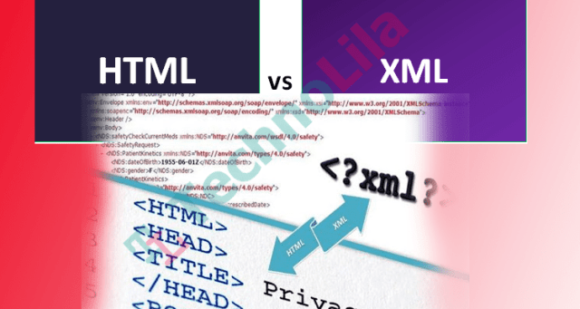 What are the difference between xml and html?