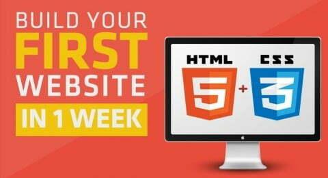 كورس لتعليم HTML5 و CSS3 مجاني من Udemy