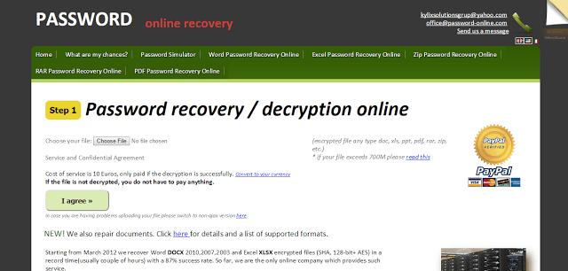 فك تشفير كلمة سر الملفات بدون برامج