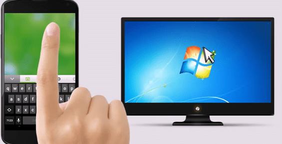 3- استخدام هاتفك كماوس ولوحة مفاتيح للكمبيوتر