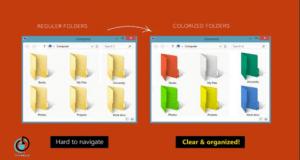 كيف تقوم بتغيير ألوان المجلدات في الويندوز الخاص بك ؟