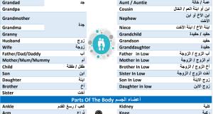 كتاب أكثر الكلمات إستخداماً ف اللغة الإنجليزية بالعربي